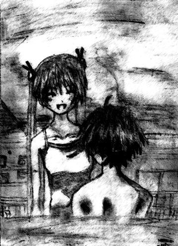 Asuna and Negi Sketch by KimBaka