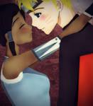 Happy Valentines Day - Naruto and Korra by annafuru