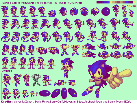 Sonic 1 Styled EmRuHire (World Heroes 2 Sonic) by FanofSMBX
