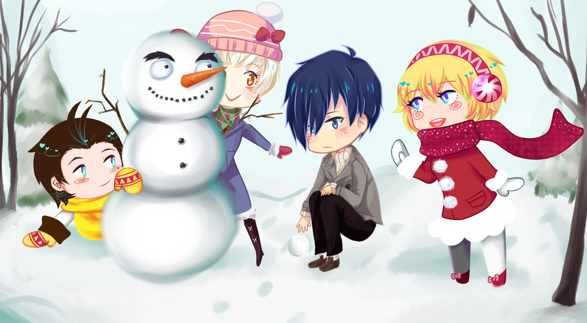 Persona Christmas Collab by Zewdi on DeviantArt