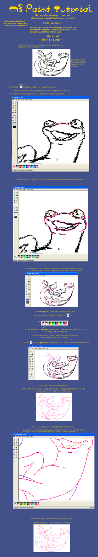 MSPaint Tutorial Part 1 by teera-misu