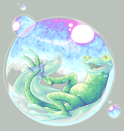 Tadpole in a Bubble by teera-misu