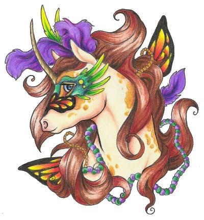 l'unicorn de mardi gras by teera-misu