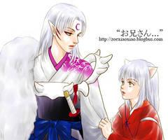 brothers, Sesshomaru-Inuyasha by alexzoe