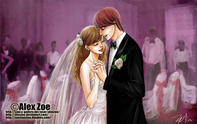 Wedding_Ron-Hermione by alexzoe