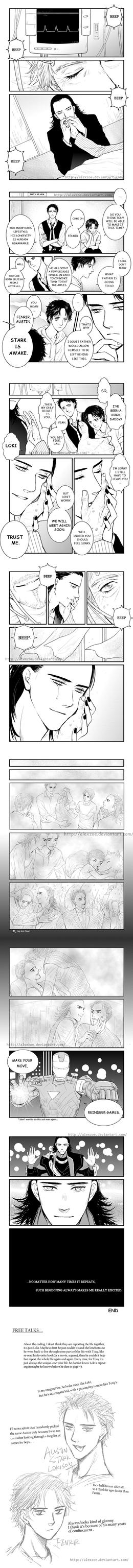 Slash-FrostIron fan comic - ENDLESS LOOP by alexzoe
