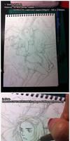 Hand drawn Manga-style watercolor Tutorial