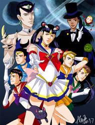 Reboot Star Trek Sailor Moon crossover by alexzoe