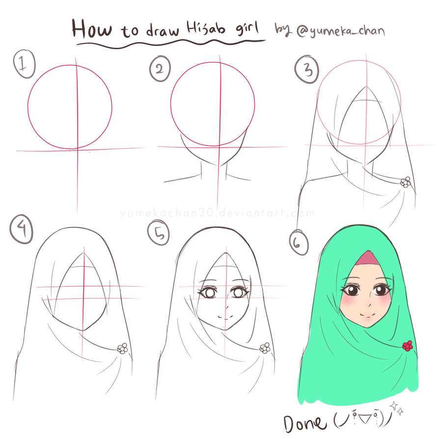 How to draw hijab girl by yumekachan20