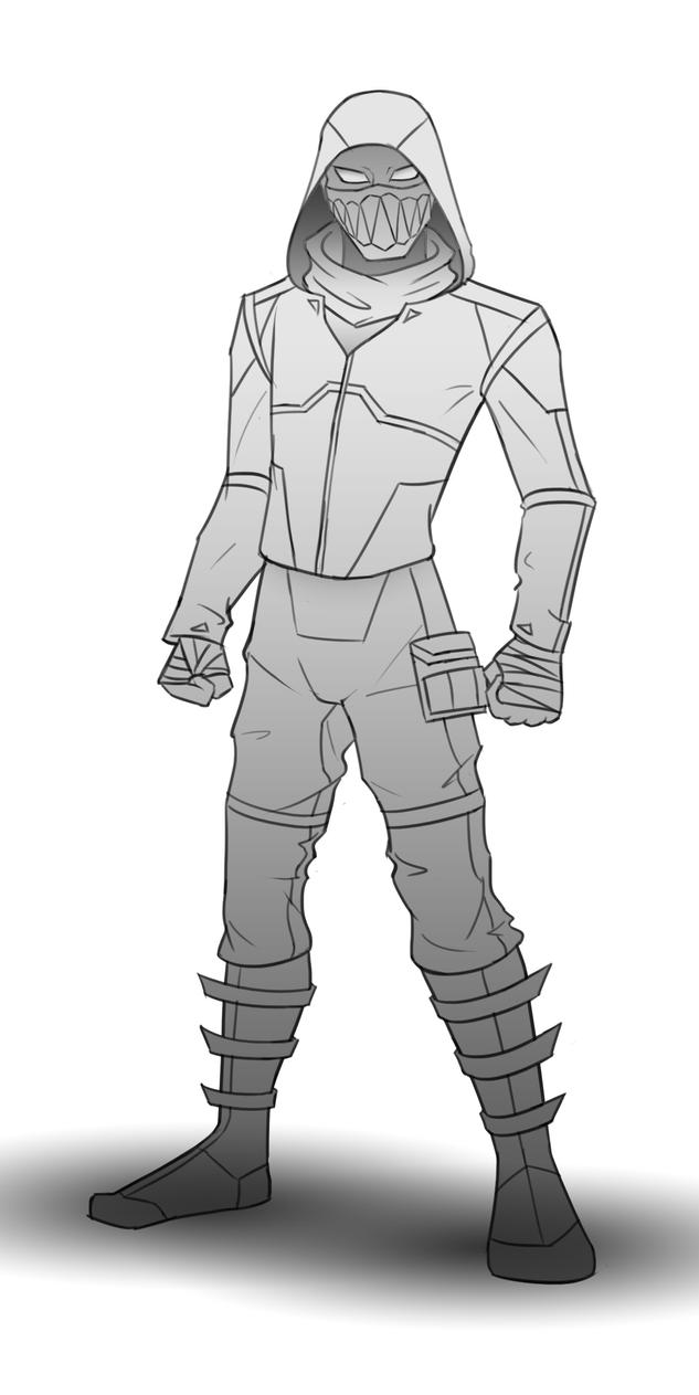 Space Assassin Concept Art (WIP) by KillerfishSG