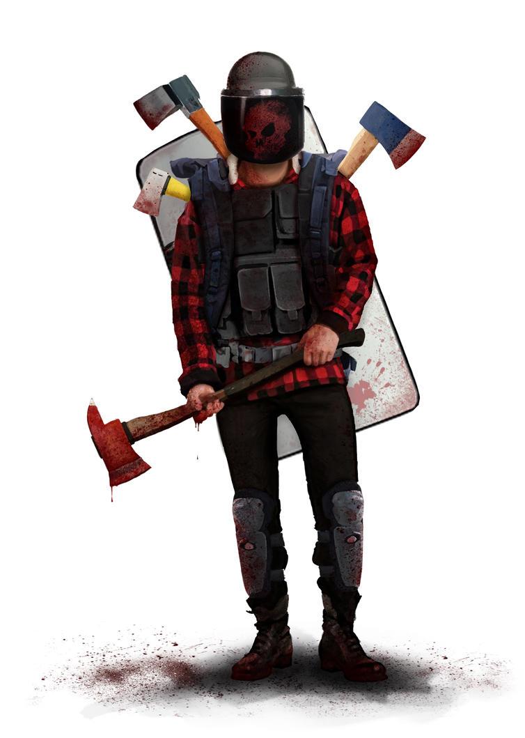 Axe man by KillerfishSG