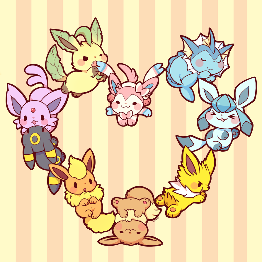 Eevees Family By Huiro