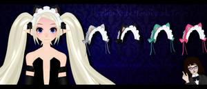 MMD Lolita Kitty Headbands DL