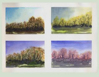 Trees study 1 by adillac