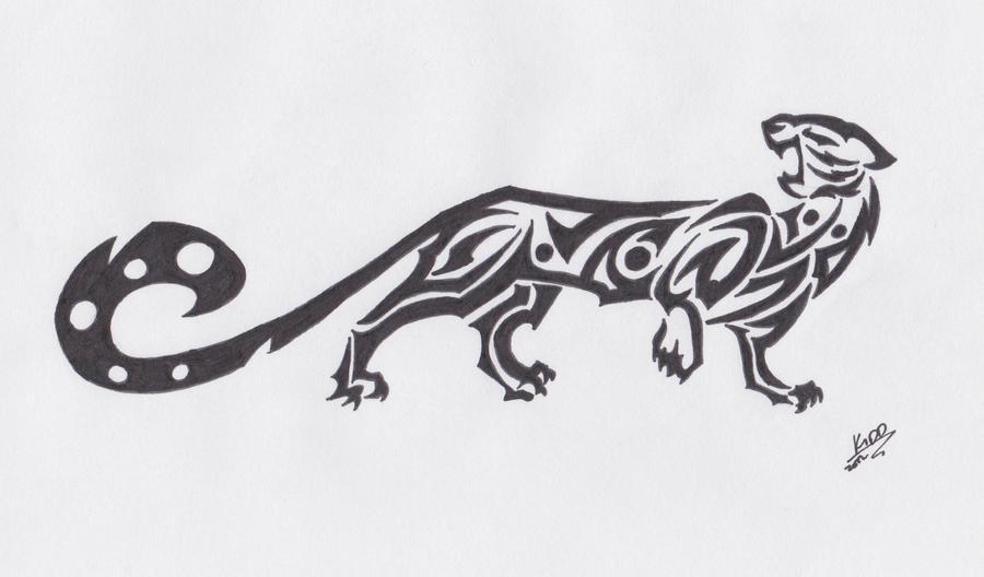 6909ff7f3cb82 Tribal Jaguar Tattoo Design Example by CallistaCat on DeviantArt