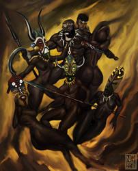 The Masked Ones by AlchemistArtworks