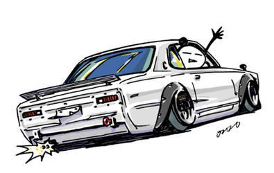 Crazy car art by mame-ozizo