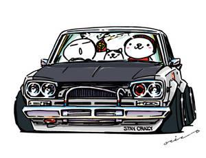 Crazy car art
