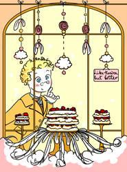 Aziraphale and cake