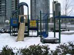 Vacant playground - snowy.