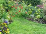 Someone's flower garden.