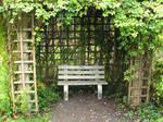 Enclosed bench.