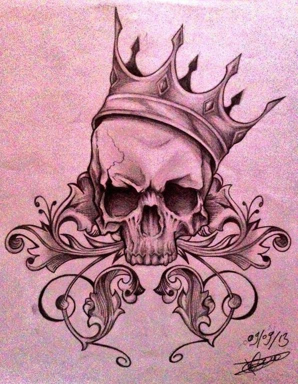 King Skull tattoo by Paprishka on DeviantArt