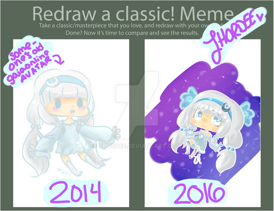re:draw meme by Jhordee