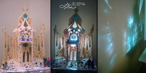 Elsa's 'Gingerbread' Ice Palace
