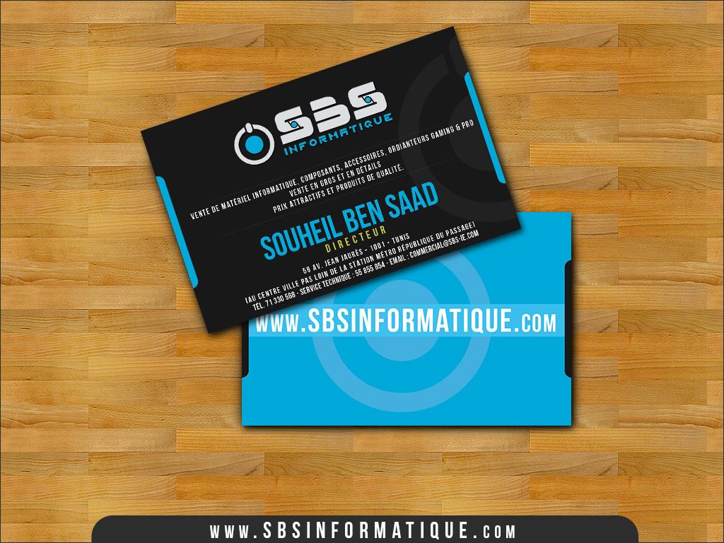 sbs informatique business card by mixmyphotoshop on deviantart. Black Bedroom Furniture Sets. Home Design Ideas