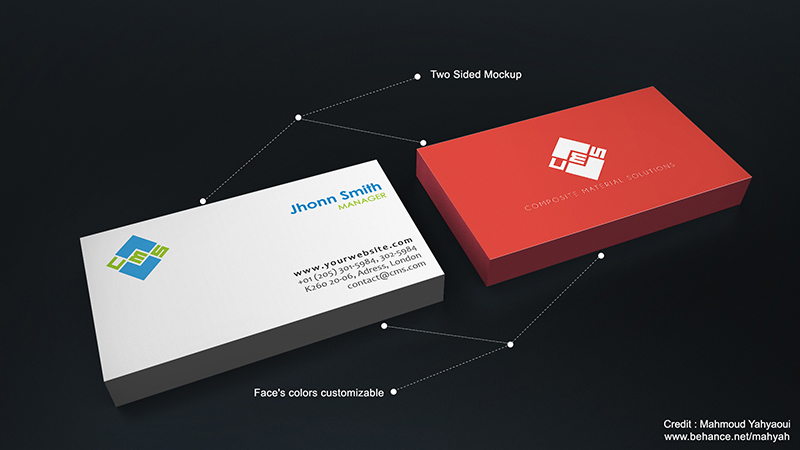 Free BusinessCard Mockup by MixMyPhotoshop