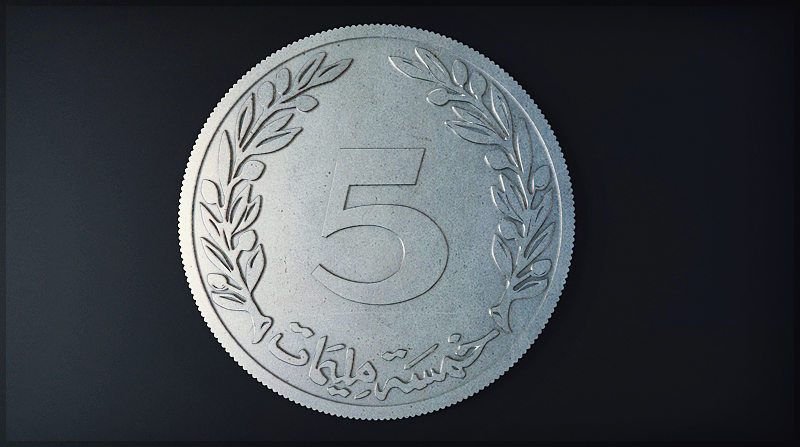 5 Millimes Coin by MixMyPhotoshop