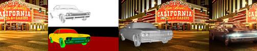 Chevrolet Impala 1965 - 3D render by MixMyPhotoshop