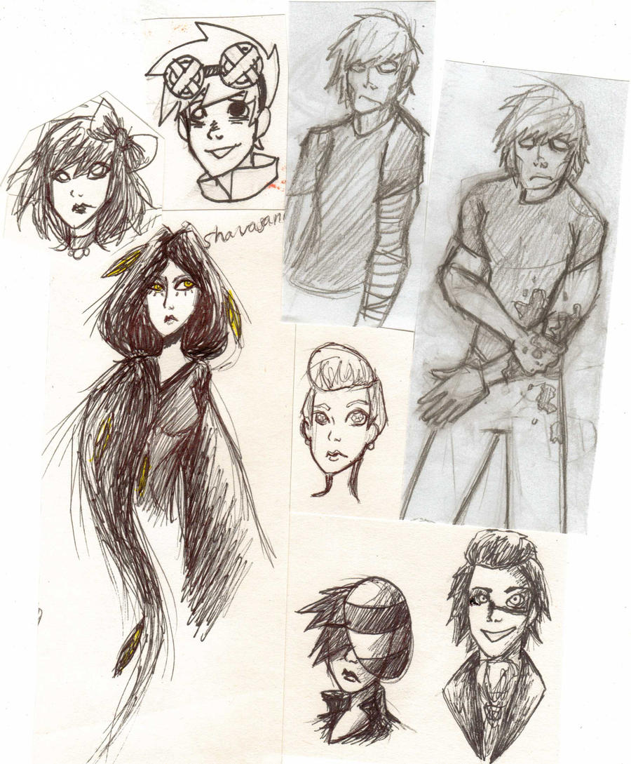 OC Sketch DUMP by superfreak333