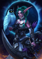Night Warrior Tyrande Commission by noodlepredator
