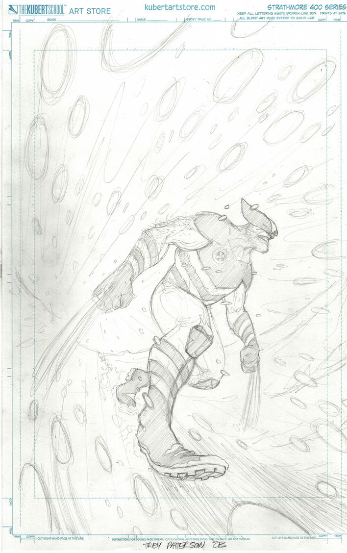 Wolverine Cover Pencils by TreyPatterson