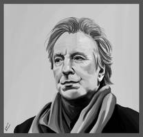 Alan Rickman by Aakami