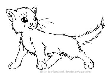 Longhaired Warrior M Lineart by WildpathOfShadowClan
