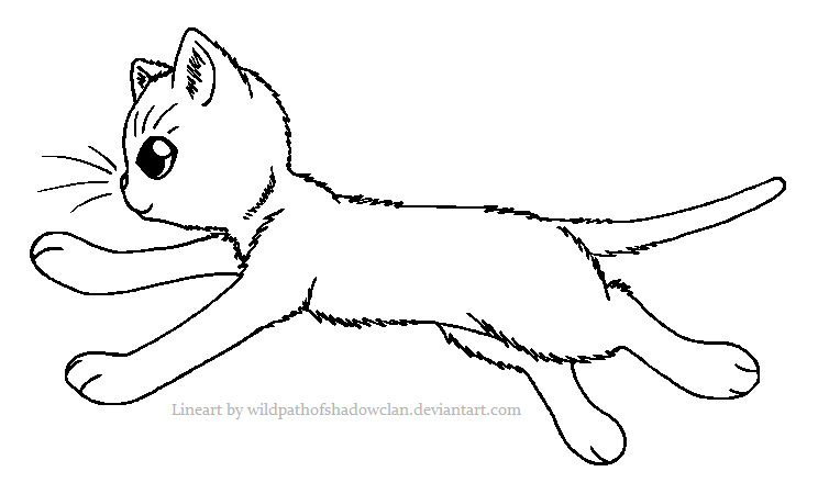 WindClan Warrior Lineart by WildpathOfShadowClan