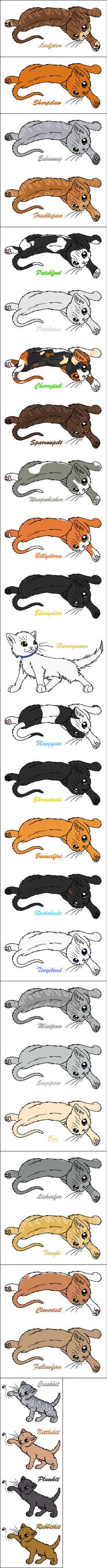 Current SkyClan by WildpathOfShadowClan