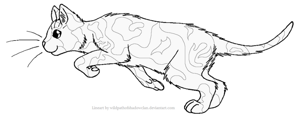 ThunderClan Tortie Lineart 2 by WildpathOfShadowClan