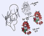YCH - Chibi with Book (open) (points/paypal) by SilaCinnamon