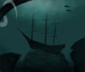 Sunken Shipwreck 01