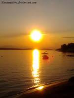 Sunset in Crikvenica by NanamiHoro