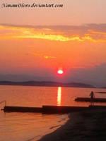 Sunset in Crikvenica 2 by NanamiHoro