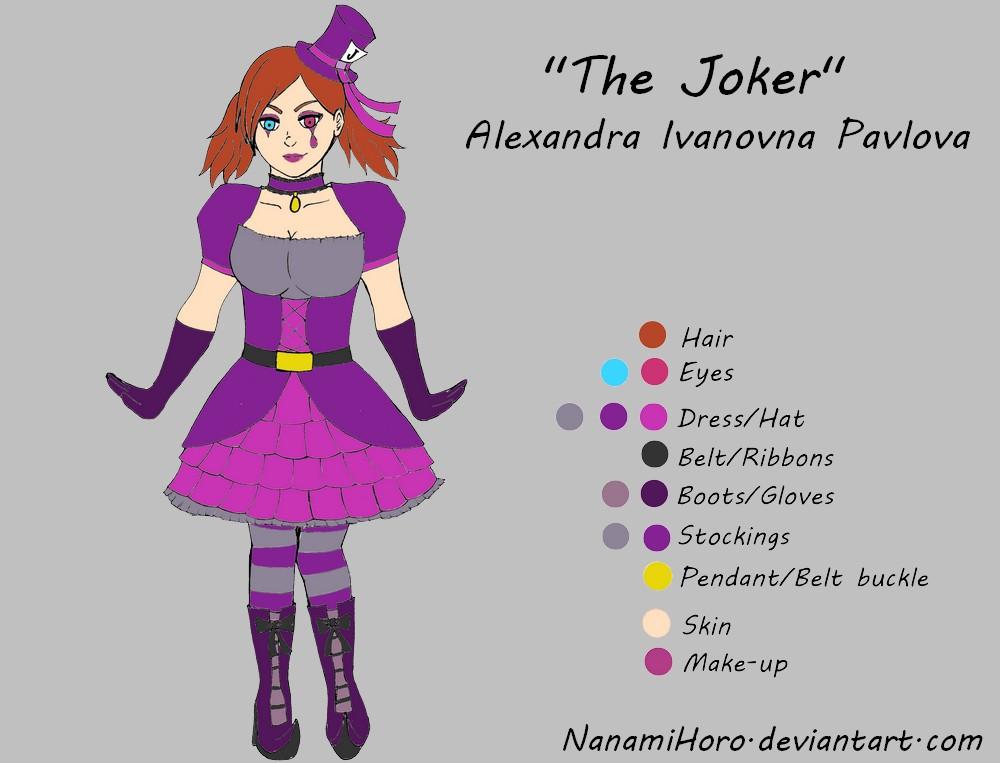The Joker reference sheet by NanamiHoro