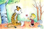 Calvin and Hobbes - flower 4 u