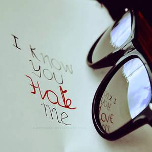 I know...
