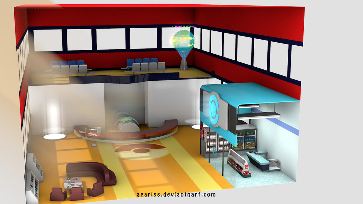 3D Pokemon Center By PixelPandaa On DeviantArt