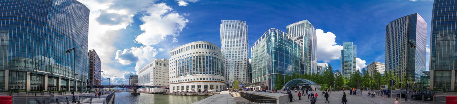 Canary Wharf 360 Panorama by PixelPandaa